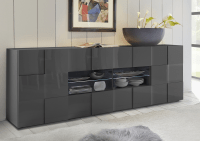 Treviso Long Sideboard - Two Doors/Four Drawers High Gloss ...