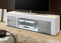 Napoli Large TV Stand Gloss White/Grey finish | TV & media ...