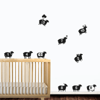 Counting Sheep Wall Sticker Set by Hu2 | Wall stickers