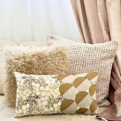 west elm embroidered dot floral pillow