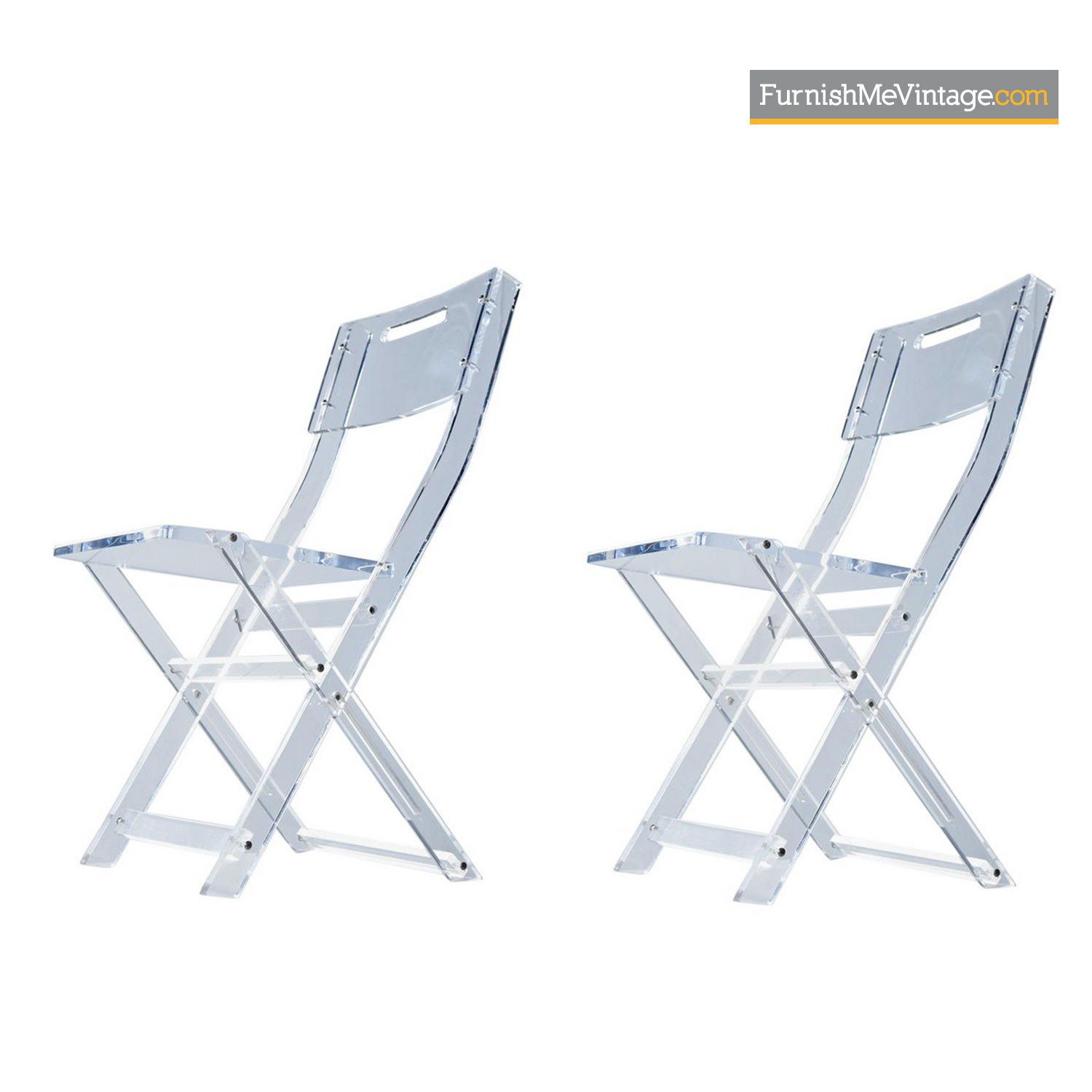Lucite Chair Modern Solid Lucite Acrylic Folding Dining Chair Set