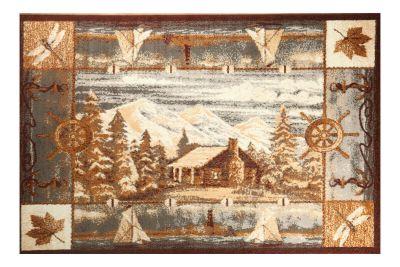 mountain theme rug
