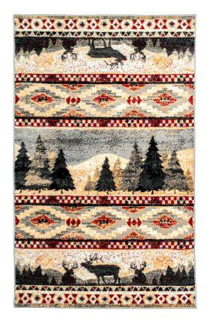 tribal print rug with animal