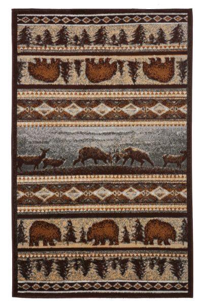 bear print indoor area rug