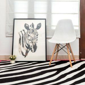 Zebra Pink Kid Area Rug for Playroom