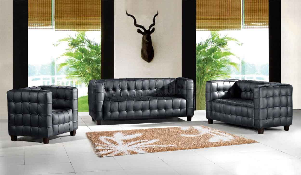 tufted brown leather sofa student kubus chair | furnishplus