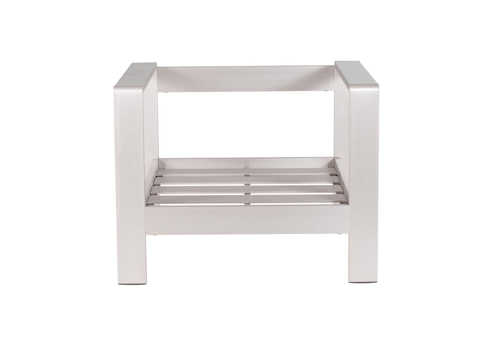 brushed aluminum chairs chair cover elegance le mars iowa cosmopolitan arm frame furnishplus