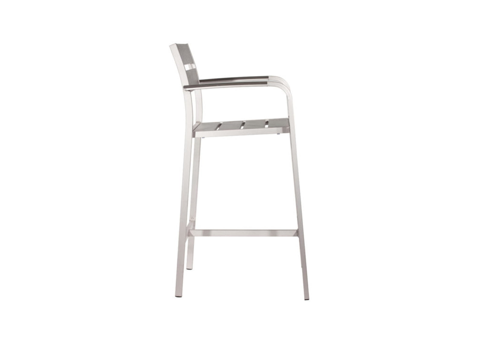 brushed aluminum chairs florida electric chair pictures megapolis bar arm furnishplus