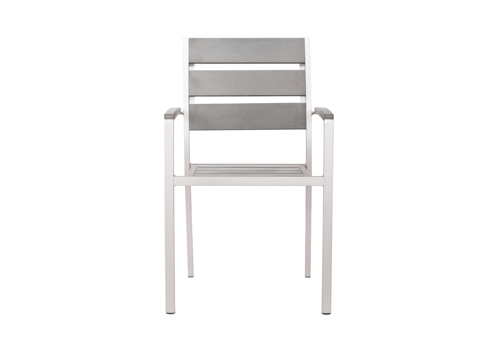 brushed aluminum chairs slipper chair canada metropolitan dining slated arm