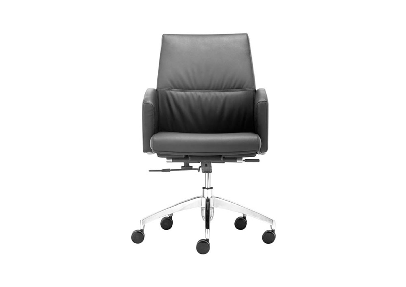 low back office chair chicago table and rental chieftain black furnishplus