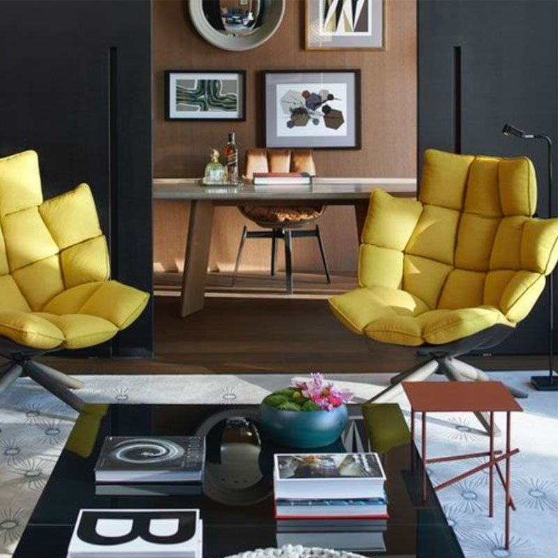 BB Husk Swivel Chair  Patricia Urquiola Style