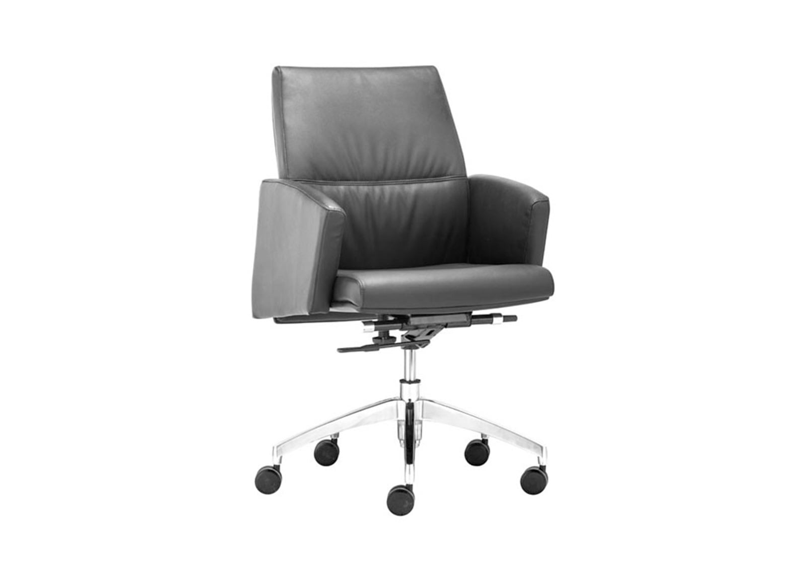 low back chair baby trend high replacement cover chieftain office black furnishplus
