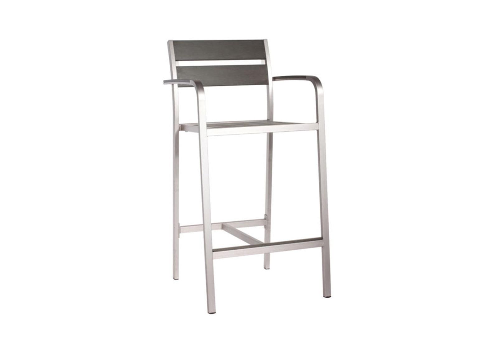brushed aluminum chairs little mermaid chair megapolis bar arm furnishplus