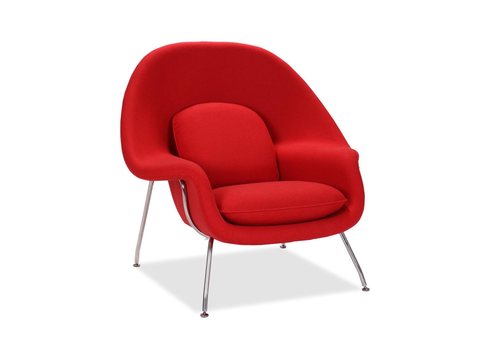 modern red chair cover rental austin tx womb & ottoman | furnishplus