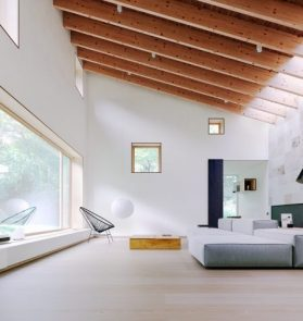 minimalist spacious living space