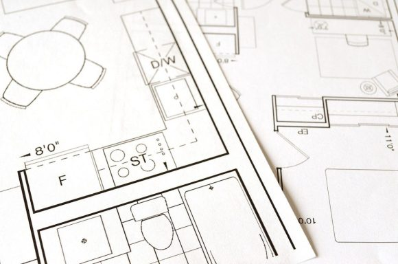 a floor plan for a renovation by an interior designer