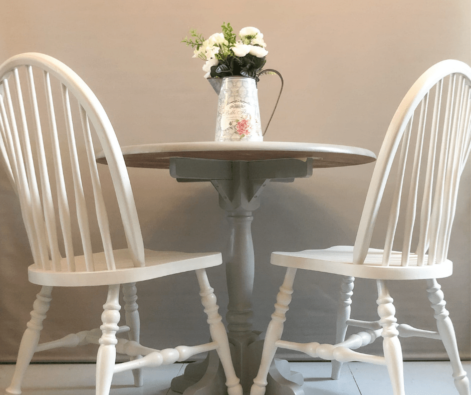 Hand Painted Chairs in White Plymouth Devon