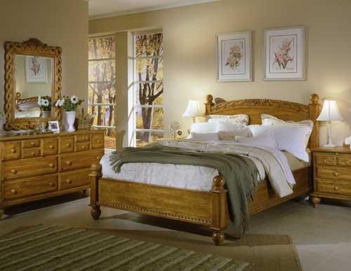 Lake Cottage RopeCarved Bed  FurnitureTimescom