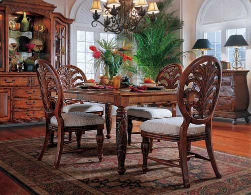 west_indies_5piece_rectangular_dining_set  FurnitureTimescom