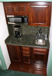 Commercial kitchen cabinet Built - in coffee station