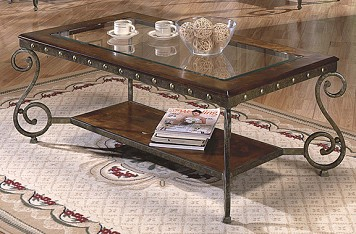 Cocktail table - Glass, Metal and Wood