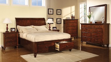 Bedrooms  |  The Rosewood Collection  |  8 Pc. King Storage Bedroom