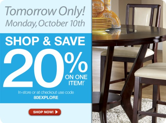 The RoomPlace Coupons - One Day Sale
