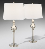 2 Pack Lamps with White shade