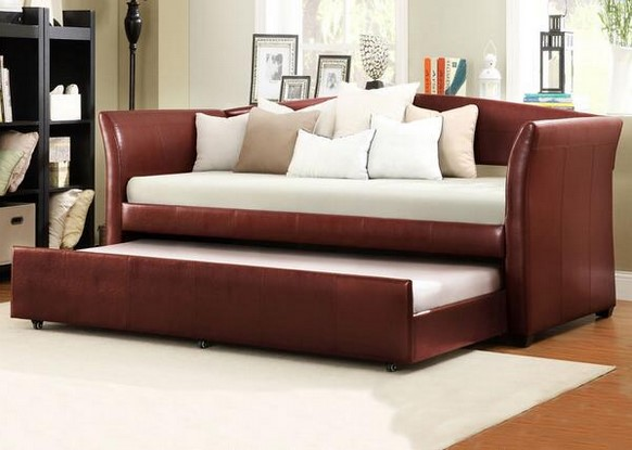 Featured Image: Donovan Red 3 Piece Daybed With Trundle From The RoomPlace