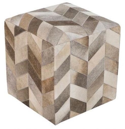 Image: Hand Crafted Chevron Pouf from The RoomPlace