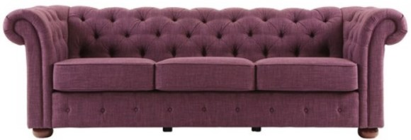 Barrington Purple Linen Sofa from The RoomPlace