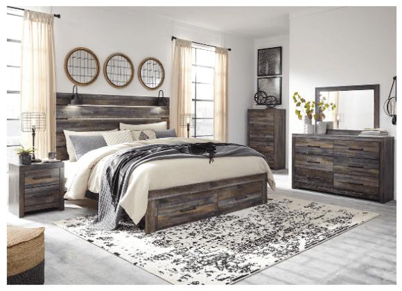 Denver Gray 8 Pc Queen Bedroom