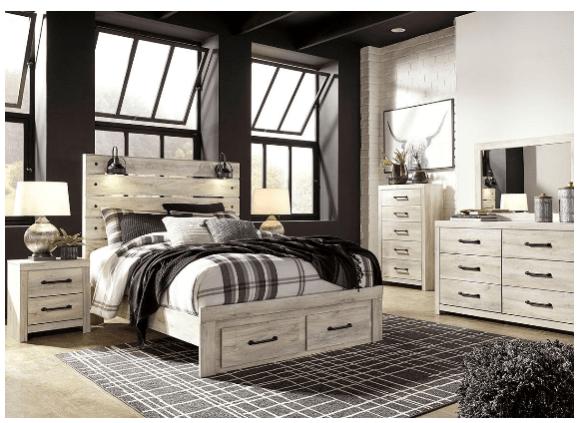 Denver White 7 Pc Queen Bedroom