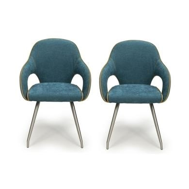 fabric dining chairs uk modern kitchen high furniture123 carseat pair of in teal