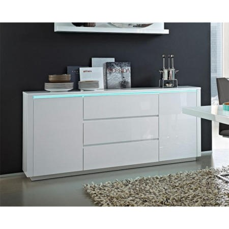 Germania Chicago White High Gloss Sideboard  Furniture123