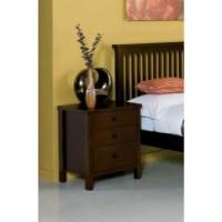 Bentley Designs Atlantis Deep Oak Bedside Table | Furniture123
