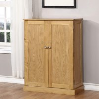 Windsor Solid Oak Shoe Storage Cupboard - 15 Pairs ...