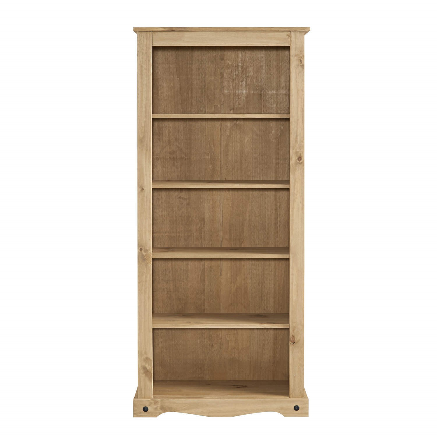Corona Solid Pine Bookcase 6ft Tall Bookshelf With 5 Shelves