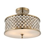 Semi Flush Ceiling Light With Crystals Glass Furniture123