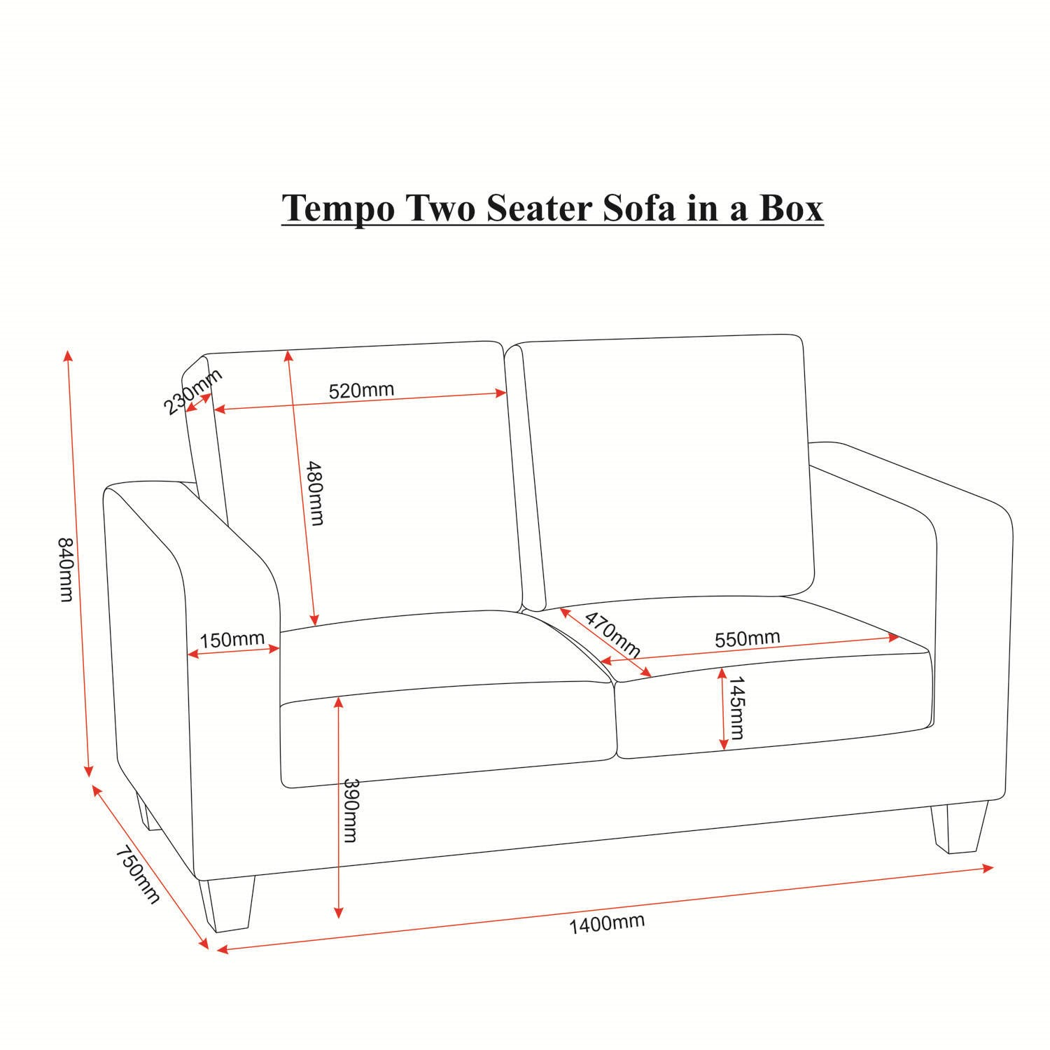 length of 2 seater sofa loveseat covers width www looksisquare com seconique tempo in black furniture123