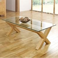 Bentley Designs Lyon Oak Glass Coffee Table | Furniture123