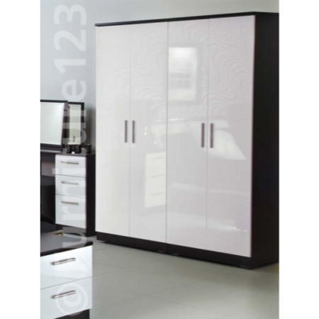 white gloss living room furniture next rooms designs small space welcome hatherley high 4 door wardrobe in ...
