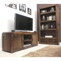 Baumhaus Shiro Solid Walnut 2 Piece Living Room Furniture ...