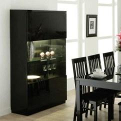 Black High Gloss Living Room Furniture Large Wall Clocks For Dazzle 2 Door Display Cabinet Furniture123 Fol069825