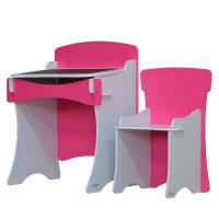 Kidsaw Blush Hot Pink Desk & Chair | Furniture123