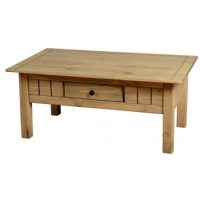 Seconique Panama Solid Pine 1 Drawer Coffee Table ...