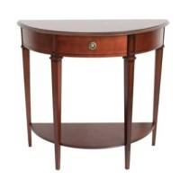 Origin Red Winchester Half Moon Side Table in Mahogany ...