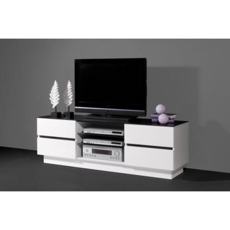 marble living room table sets wall decor stickers germania giro tv unit in white high gloss and black glass ...