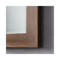 Morgan Full Length Mirror with Wood Frame | Furniture123