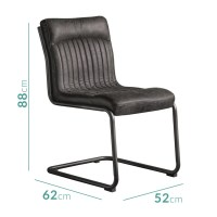 Capri Genuine Leather Upholstered Dining Chair in Antique ...